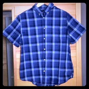 Five Four Menlo checkered shirt. XL blue